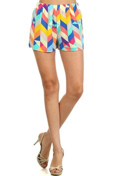 Perfect with a white tee #printedshorts #shorts $40 Childs Play High Waisted Shorts