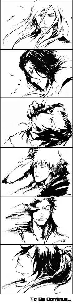 Cool Anime Art! BLEACH : Kurosaki Ichigo, Yoruichi, Ukitake Jyuushirou, Starrk, Ganju