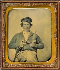 ca. 1861, [Private Japhet Collins,  Confederate States Army]  via Southern Methodist University, Lawrence T. Jones III Texas Photography Collection