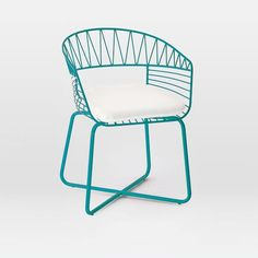 "Soleil Metal Bistro Chair Overall product dimensions: 23""w x 20""d x 32""h. Interior seat width: 19.3"" Seat depth: 14.5"" Seat height: 16.6"". Back height from top of seat: 14.5""."
