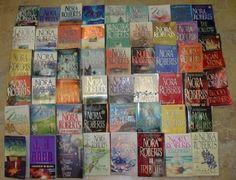 Nora Roberts' Books  -nice fluffy reading  -great dialogue/fun!