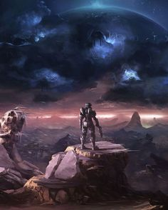 Halo art. My husband would love this