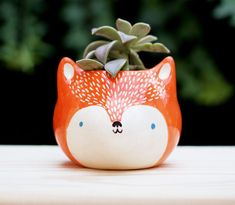 Orange wolf by mirubrugmann on Etsy https://www.etsy.com/listing/247611373/orange-wolf