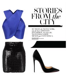 """""""day to night"""" by urbantiara on Polyvore featuring Carven, Yves Saint Laurent and Christian Louboutin"""