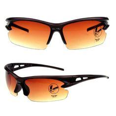 Herren Sonnenbrillen ,Sportbrille wind-proof UV400,polarisierte Linsen YJ09 (Brown)