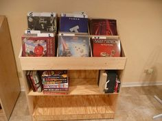 Vinyl Record Album Storage Bin Triple by MountProspectRecords Record Crate, Vinyl Record Display, Vinyl Record Storage, Lp Storage, Record Stand, Record Holder, Storage Ideas, Vinyl Store, Daddy