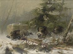 View Boar in the snow by Manfred Schatz on artnet. Browse upcoming and past auction lots by Manfred Schatz. Wild Hogs, My Spirit Animal, Wildlife Art, Oil Paintings, Retro Vintage, Oc, Hunting, Landscapes, Character