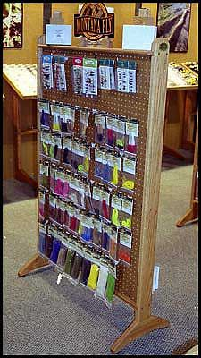 Peg board display - Could also be used for hanging tiles.