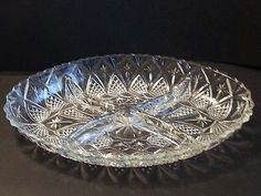 #collectibles antique vintage jewelry china silver crystal serving oval shape plate 4 section divided NEW withing our EBAY store at  http://stores.ebay.com/esquirestore
