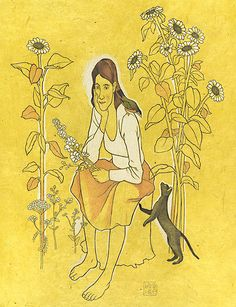 'wildflower daydream' by david hile Daydream, Wild Flowers, David, Princess Zelda, Fine Art, Fictional Characters, Wildflowers, Fantasy Characters, Visual Arts
