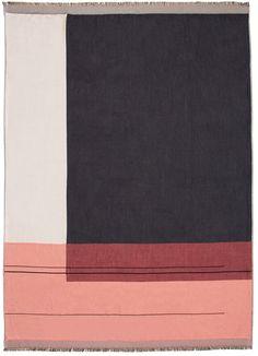 ferm LIVING color block carpet in blush 22021e284d57e