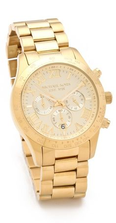 Gold Watch by Michael Kors. Buy for $250 from shopbop.com