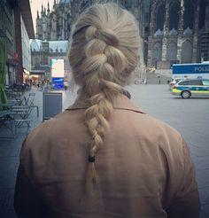 Braided hair, street style