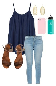 """""""School"""" by abbyharshman8 on Polyvore featuring Gap, J Brand, Emporio Armani, Kendra Scott and Hydro Flask"""
