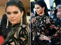 Make inspiração para night! A top diva, Kendall Jenner, já deu as caras no #Cannes2016 e arrasou com make e penteado modernos e super fashion! Ela usou o cabelo puxado pra trás, destacou bem os olhos e deixou os lábios nude. Linda!