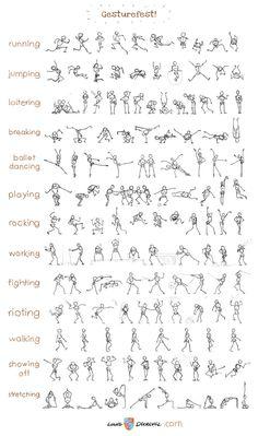 #recurso – Referencias para poses y modelos | Ilustración y Animación | Domestika