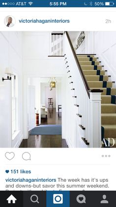 Stairs and white with dark wood