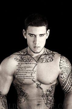 Pretty wild scripture/religious tattoo.