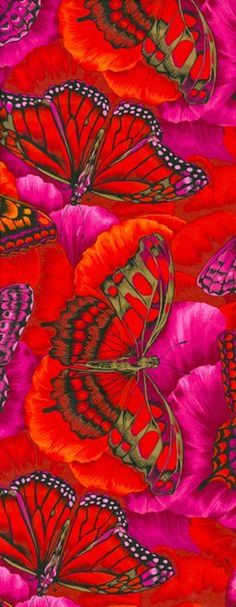 Painting, Silk (Fabric), Wallpaper - I don't know, but I love it. Arte Fashion, Floral Fashion, Art Et Illustration, Motif Floral, Butterfly Art, Butterfly Pattern, Jolie Photo, Silk Painting, Beautiful Butterflies