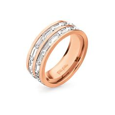This elegant ring from Folli Follie can subtly elevate any outfit. 14k Gold Jewelry, Jewelry Rings, Jewelery, Fashion Jewellery Online, Cheap Jewelry, Rose Gold Plates, Beautiful Rings, Gold Rings, Wedding Rings