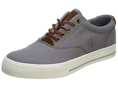 Polo Vaughn Mens 816579528-003 Basic Grey White Casual Shoes Sneakers Size 10.5