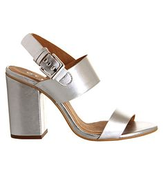 Office Garland Strappy Block Heel Gold Leather - Mid Heels