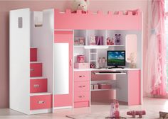 Roze hoogslaper voor meisjes Lola