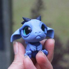 Blue Bitty Baby Dragon von BittyBiteyOnes auf Etsy