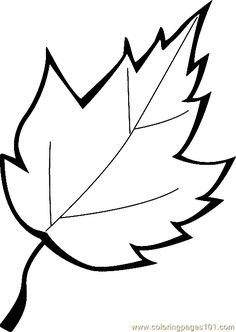 free printable coloring image Leaf Coloring Page 13