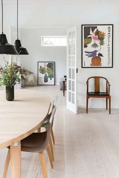 Scandinavian Interior, Beautiful Homes, Dining Table, Dining Rooms, Gallery Wall, House, Inspiration, Furniture, Design