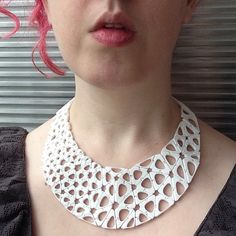 Nervous Systems | We're at NYNOW and I'm wearing our latest 3d-printed jewelry experiment #kinematics | Flickr - Photo Sharing!