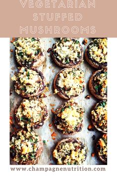 One sure way to have something you know you can eat? Bring something amazing yourself! That's where Vegetarian Stuffed Mushrooms come in.