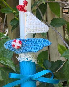 A ship a-sailing Easter lambada #crochet #Easter #lambada #applique
