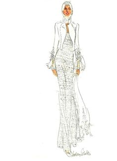 Maggie Norris Bridal Couture, illustrated by Audrey Schilt