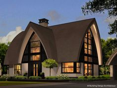 Building Design Architectuur Villa Design, Roof Design, Modern House Design, Exterior Design, Village House Design, Village Houses, Arched Cabin, Hotel Room Design, Thatched House