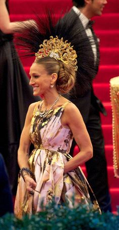 Sarah Jessica Parker's custom-designed Philip Treacy headpiece