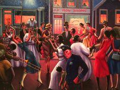 Archibald Motley: Jazz Age Modernist at the Whitney Museum African American Artist, American Artists, Archibald Motley, Painting Shower, Cotton Club, Whitney Museum, Harlem Renaissance, Cool Animations, Black Artists