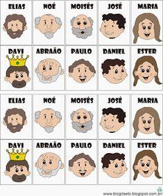 Culto e Ebd Infantil: Jogos bíblicos - sugestão (cara a cara bíblico)