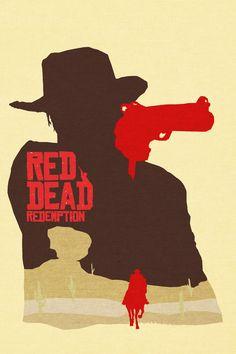 Red Dead Redemption Minimalist Poster by LandLCreations on deviantART