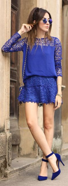 Everything Blue Romantic Style by Fashion Coolture