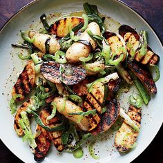 Not only are the potatoes in this easy summer salad grilled, but the scallions in the tangy, spicy dressing are grilled, too.