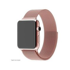 Pandawell Apple Watch Band, Milanese Loop Rose Gold Stainless Steel... ❤ liked on Polyvore featuring watches