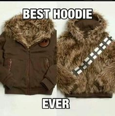 Yep. What the pic says. Want. Star Wars Chewbacca reversible parka