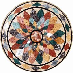 MD091 Marble Mosaic Medallion Tile