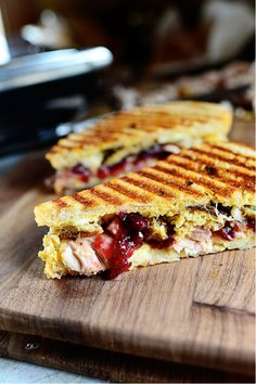 Leftover Thanksgiving Panini Recipe courtesy Ree Drummond Show: The Pioneer Woman Episode: Turkey Day Leftovers  Read more at: http://www.foodnetwork.com/recipes/ree-drummond/leftover-thanksgiving-panini-recipe/index.html?oc=linkback http://www.foodnetwork.com/recipes/ree-drummond/leftover-thanksgiving-panini-recipe/index.html
