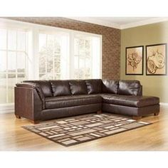 Ashley Capote Brown Faux Leather Contemporary Power Reclining Sectional Sofa Set | Furniture | Pinterest | Reclining sectional sofas Reclining sectional ...  sc 1 st  Pinterest : capote durablend sectional - Sectionals, Sofas & Couches