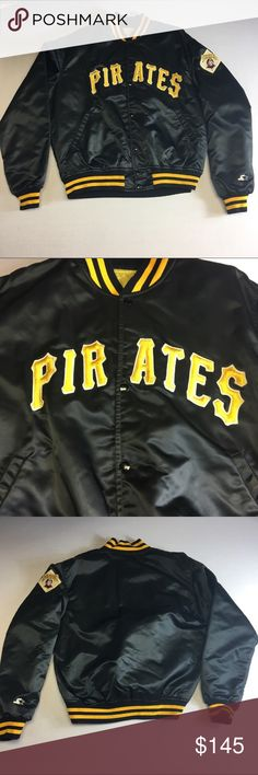 Pittsburgh Pirates Vintage Starter Jacket Extremely RARE starter jacket size Large of the beloved baseball team the Pittsburgh Pirates. From their era when the Pirates were actually a well rounded team! Some of the buttons have small blemishes but other than that, the jacket is in great condition. Tends to run a bit smaller which is why I have it sized at a Medium. STARTER Jackets & Coats Bomber & Varsity