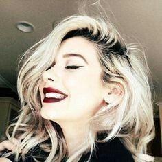 Platinum blonde, dark roots