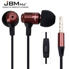 JBMMJ MJ710 Deep Bass Intelligent Mobile Phone Headset Dynamic Earphones for iPad iPod iPhone Samsung etc (COFFEE) | Everbuying.com