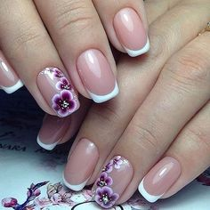 20 Blumen Nail Art Designs - The most beautiful nail designs Gel Nail Art Designs, Flower Nail Designs, Flower Nail Art, Simple Nail Art Designs, Nail Designs Spring, Easy Nail Art, Cool Nail Art, Pedicure Designs, Butterfly Nail
